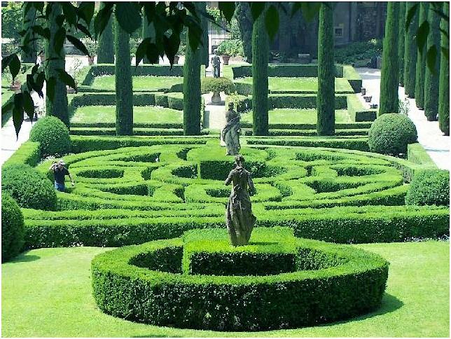 сад в стиле барокко